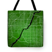 Saskatoon Street Map - Saskatoon Canada Road Map Art On Colored  Tote Bag
