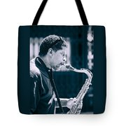 Saxophone Player Tote Bag