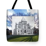 Sayles Hall At Brown University In Providence Rhode Island Tote Bag