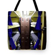 Seaman Lockers And Bunks Aboard Uss Tote Bag
