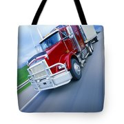 Semi-trailer Truck Tote Bag