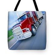 Semi-trailer Truck Tote Bag by Don Hammond