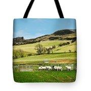 Sheep In Meadow Tote Bag