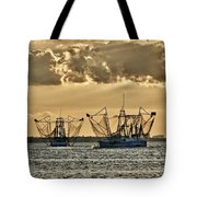 2 Shrimper Going To Sea Tote Bag