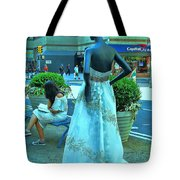 Sidewalk Catwalk 13 Tote Bag