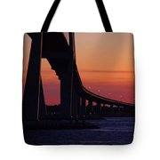 Sidney Lanier Bridge At Sunset Tote Bag