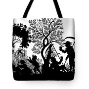 Silhouette Daily Life Tote Bag