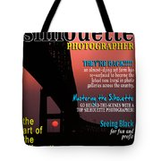 Silhouette Photographer Faux Magazine Cover Tote Bag