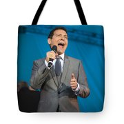 Singer Michael Feinstein Performing With The Pasadena Pops. Tote Bag