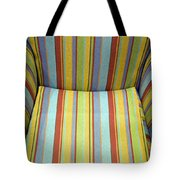 Sitting On Stripes Tote Bag