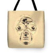 Skull In Sepia Tote Bag