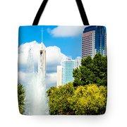 Skyline Of A Modern City - Charlotte North Carolina Usa Tote Bag