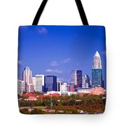 Skyline Of Uptown Charlotte North Carolina At Night Tote Bag