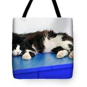 Sleeping Cat In Sifnos Island Tote Bag