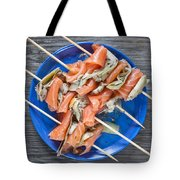 Smoked Salmon And Grilled Artichoke Tote Bag
