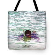 Snorkeling In The Lagoon Inside The Coral Reef Tote Bag