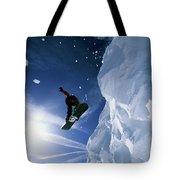 Snowboarding In Lake Tahoe Tote Bag