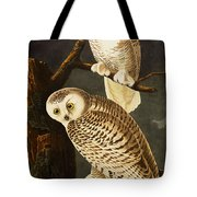 Snowy Owl Tote Bag by Celestial Images