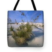 Soaptree Yucca In Gypsum Dunes White Tote Bag
