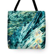 Sodium Thiosulphate Crystals In Polarized Light Tote Bag