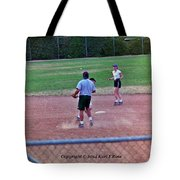 Softball Game Tote Bag