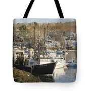 South Bristol And Fishing Boats On The Coast Of Maine Tote Bag