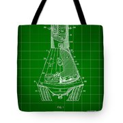Space Capsule Patent 1959 - Green Tote Bag
