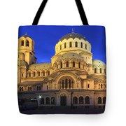 St Alexander Nevsky Cathedral At Dusk Sofia Bulgaria Tote Bag