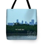 St Louis From Chain Of Rocks Bridge Tote Bag