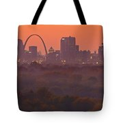 St Louis Skyline And Arch Tote Bag