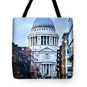 St. Paul's Cathedral London At Dusk Tote Bag
