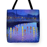 Starry Night In Dublin Tote Bag