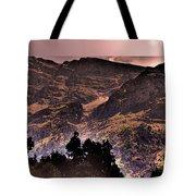 Starry Night Landscape Tote Bag