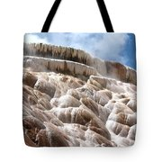 Steamy Mammoth Hot Springs Tote Bag