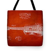 Stratton Guitar Patent Drawing From 1893 Tote Bag