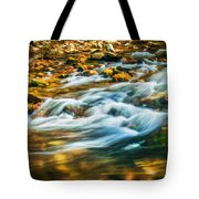 Stream Fall Colors Great Smoky Mountains Painted  Tote Bag