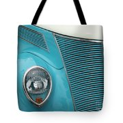 Street Car  Blue Grill With Headlight Tote Bag