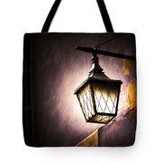 Street Lamp Shining Tote Bag