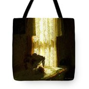 Sunlight Through Lace Tote Bag