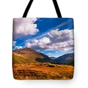 Sunny Day At Rest And Be Thankful. Scotland Tote Bag