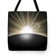 Sunrise Sunset Planet Tote Bag