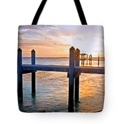 Sunset By The Dock  Tote Bag