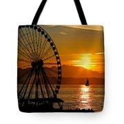 Sunset Ferris Wheel Tote Bag