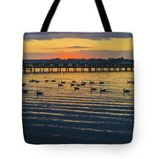 Sunset Geese Tote Bag