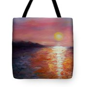 Sunset In Ixtapa Tote Bag