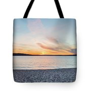 Sunset On South Bay, Lake Superior Tote Bag