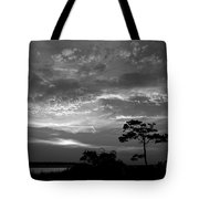 Sunset Over Colington Island On The Outer Banks Of North Carolina Tote Bag