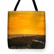 sunset over Jerusalem Tote Bag