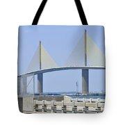 Sunshine Skyway Bridge I Tampa Bay Florida Usa Tote Bag