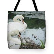Swan Family Tote Bag